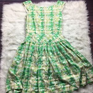Kate Spade New York Plaid Silk Tea Dress